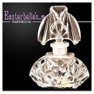 "Vintage ""Aristo"" Cut Glass Perfume Bottle with Original Label"