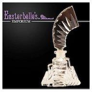 Vintage Czech Cut Glass Perfume Bottle Enchanting Deco Design