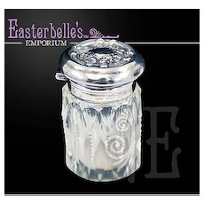 1931 Dutch Sterling Silver Collar Cut Glass Scent Bottle