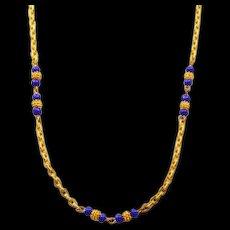 Luscious Les Bernard Vintage Etruscan-Style Goldtone Necklace