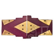 Classic Art Deco Galalith Belt Buckle