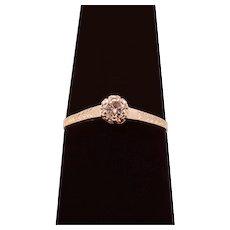 ca 1923 Diamond and 14 Karat White Gold Engagement Ring