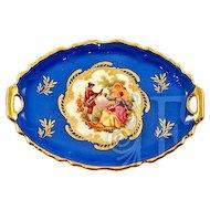 Limoges Vintage Fragonard Transferware Miniature Serving Tray Rare Blue
