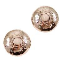 Vintage Sterling Silver Native American Earrings