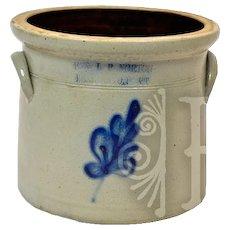 ca 1861-81 E & LP Norton Vermont Stoneware Crock