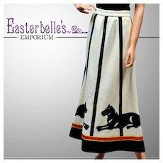 Classic Beautifully Detailed 1940's Knit Skirt - Custom Made