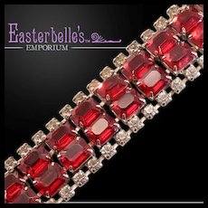 Ultra-Glam Vintage Bracelet With Big, Blingy Rhinestones