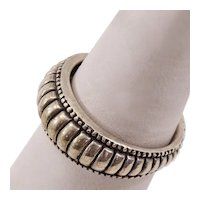 Boho-Chic Vintage Sterling Silver Ring