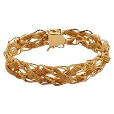 Gorgeous Solid 14K Gold Vintage Barnabus Barna Bracelet