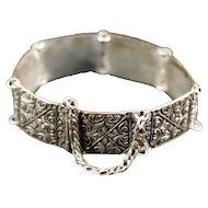 Exotic Antique .800 Silver Bracelet