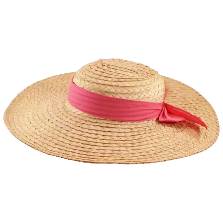 bf908cb7 Sweet and Sassy Vintage Straw Sun-Hat : Easterbelle's Emporium | Ruby Lane