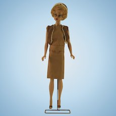 1961 Vintage Sorority Meeting Blonde Bubble Cut Barbie