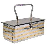 Vintage Dorset Rex Silver & Goldtone Basket Handbag