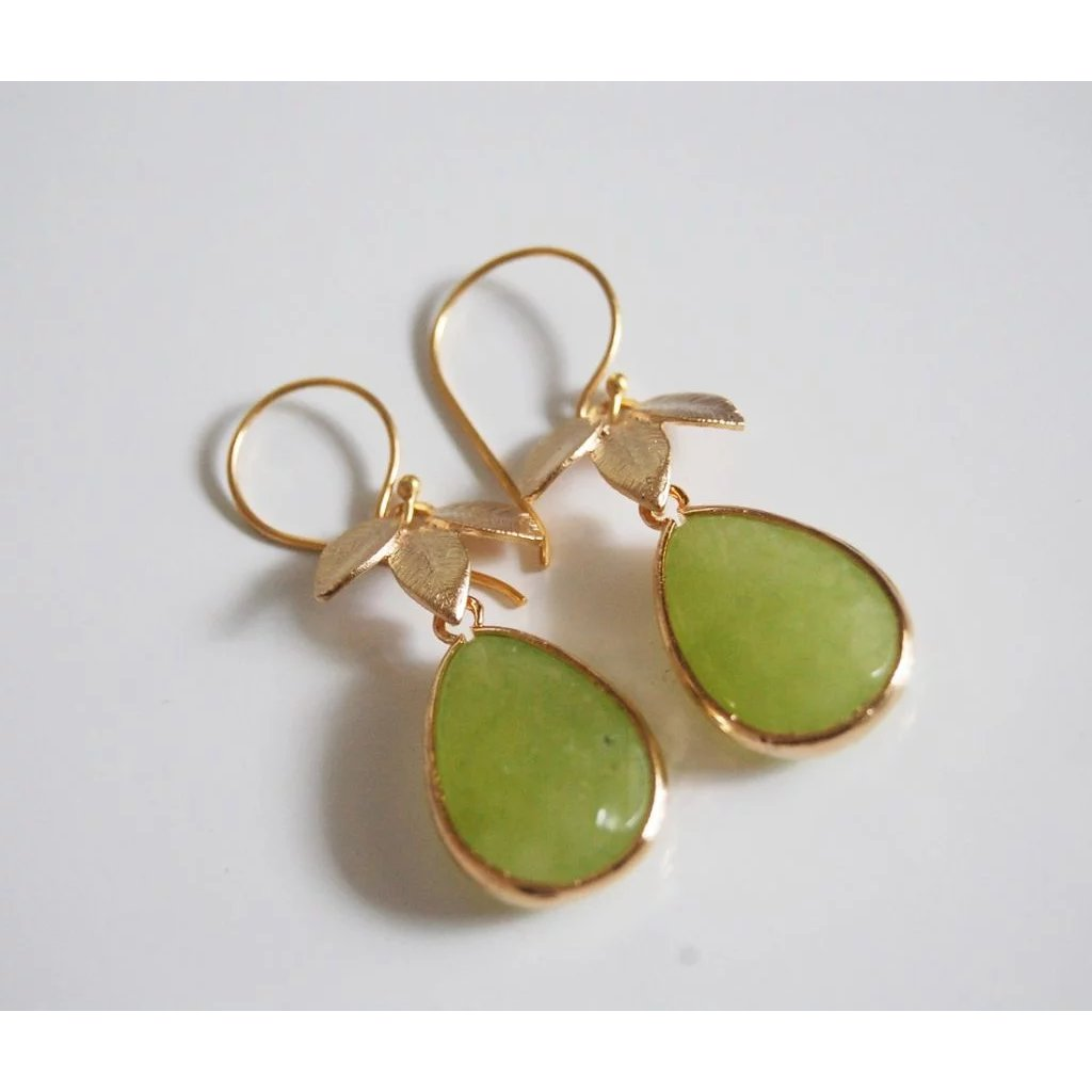 green with gold amazinite com earrings gemstones onyx gemstone