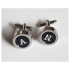 Men's personalized Cuff links - Men's jewelry- Men's Cuff links- Photo Cuff Links-Initial Cuff Links Cuff links - Men's accessories
