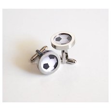 Soccer Ball Cufflinks- Men's Cuff links - Men's jewelry-- Photo Cuff Links- Sports Cufflinks - Men's accessories- Cufflinks
