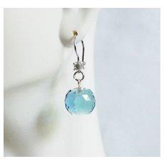 Huge 27.10 ct Sky Blue Topaz ball Briolette Dangle Drop Earring- Fine Jewelry-Wedding Jewelry-Bridal Accessories-Topaz Jewelry-Topaz Earring