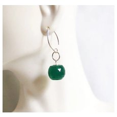 Gorgeous 28.90 ct Green Jade ball Briolette Dangle Drop Earrings- Fine Jewelry- Wedding Jewelry- Bridal Jewelry -Bridal Accessories-