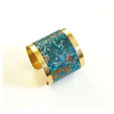 Brass Cuff Bracelet --Solid Brass Bracelet with patina Design - Women's Bracelet- Cuff Bracelet