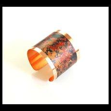 Solid Copper Cuff Bracelet --Solid Copper Bracelet with patina Design - Women's Bracelet- Cuff Bracelet