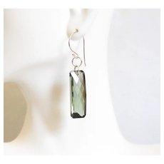 Huge 36.5 ct. Green Amethyst Dangle Drop Earrings- Fine Jewelry-Wedding Jewelry- Bridal Jewelry -Bridal Accessories- -Amethyst Earrings