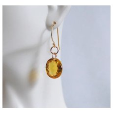 Huge 30.5 ct. Orange Citrine Oval Dangle Drop Earrings- Fine Jewelry-Wedding Jewelry- Bridal Jewelry -Bridalal accessories-Citrine earring