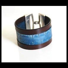 Men's Leather Cuff Bracelet -Men's Bracelet - Leather Cuff Bracelet- Unisex Bracelet- Cuff Bracelet--Handmade Bracelet -For Men And Women