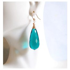 Huge 70.15 ct. Paraiba Green Apatite Dangle Drop Earrings- Fine Jewelry-Wedding Jewelry- Bridal Jewelry -Bridal Accessories- For Her-Brides