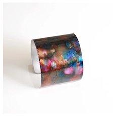 Alcohol Ink Bracelet- Cuff Bracelet-Statement Cuff Bracelet- Handmade Bracelet-Alcohol Ink Jewelry- Boho Jewelry-Christmas Gift-Gift Ideas