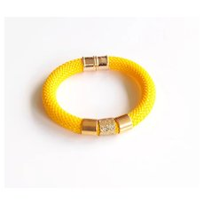 yellow Rope Bracelet -Cord Bracelet -yellow bracelet - Bangle bracelet - Statement Bracelet- Rope jewelry - Cord jewelry - Rope Bracelet -