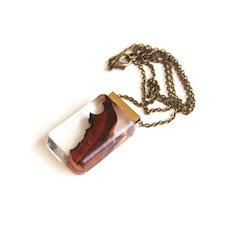 Men's resin jewelry- Men's Resin And Wood Necklace- Resin jewelry- Resin Pendant Necklace- Wood Necklace- Wood Pendant-Men's Pendant-For Him