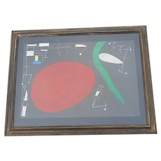 Vintage Mid 20th C. Ltd. Ed Lithograph From Derriere Le Miroir No. 164-165-1967-Joan Miro-Framed
