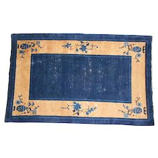"""Vintage Hand Woven Art Deco Chinese Rug- C.1930's-An Estate Rug-4'11"""" X 3'1"""""""