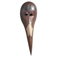 Original Vintage Hand Carved African Mask-Baga People Bird Mask