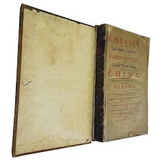"""First English Edition of """"An Embassy From the East-India Company""""-1669-Very Rare"""