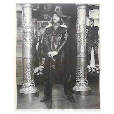 "Original Mid Century Glossy Silver Gelatin Photograph-Decked Out Hippie-8""x10""-1960's"