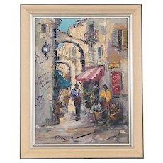 Original Vintage Expressionist Oil/Canvas-Signed-Framed