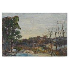 Original Vintage Impressionist Oil/Board-Signed-Listed American Artist-Landscape