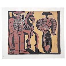 "Vintage Picasso Lithograph -""Picador Et Torero"""