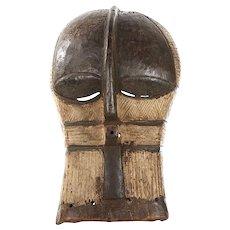 Vintage Hand Carved African Mask-Congo Tribal Society Songye Kifwebe Mask
