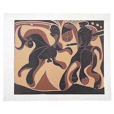 """Vintage Picasso Lithograph-""""Apres La Pique"""""""