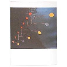 Vintage Mid 20th C. Quadrichrome Photographic Print-Derriere Le Miroir-Calder's Mobiles/Stabiles