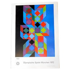 Vintage Poster Lithograph-Victor Vasarely