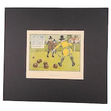 "Antique Golf Chromolithograph-""Crombie's Rules Of Golf"" c.1905"