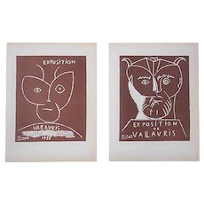 Vintage Mid 20th C. Color Lithographs-Pablo Picasso-Printed By Mourlot,Paris-A Pair