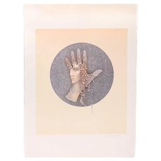"""Jean Paul Cleren Limited Edition Lithograph-""""Visage""""-Pencil Signed/Numbered"""