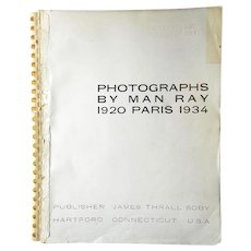 Extremely Rare Book- Man Ray Photographs 1920 Paris 1934-True First Edition, First Printing-104 Lush Gravures