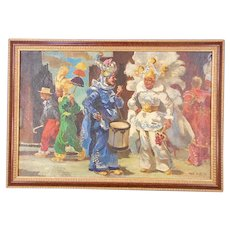 Original Mid 20th C. Impressionist Oil/Canvas by Listed Philadelphia Artist-Signed/Dated-Mummers Parade