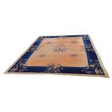 """Hand Woven Art Deco Chinese Rug- C.1930's-An Estate Rug-8'11"""" x 11'5"""""""
