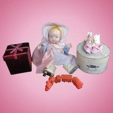 """Vintage """"MINT MINT"""" 1930's Harriet Flanders """" Little Cherub"""" Composition Doll 12"""""""